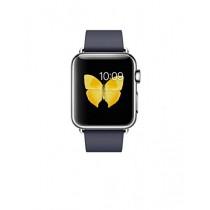 Apple Watch Montre connectée avec boîtier en acier inoxydable de 38 mm et bracelet boucle moderne bleu nuit (taille M)