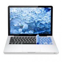 kwmobile Protection pour clavier QWERTZ en silicone pour Apple MacBook Air 13''/ Pro Retina 13''/ 15'' en bleu clair