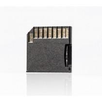 Blue bd@ Adaptateur de carte microSD (TF)/SD compatible avec Macbook Pro et Macbook Air Noir