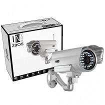 INSTAR IN-2905 (argent) IP de la caméra / WiFi 54 Mbps (résistant aux intempéries / Night Vision / antenne 5DB / TOUT NOUVEAU! Avec une adresse Internet fixe! Attention maintenant! Acheter! Un objectif grand-angle (155 degrés) ou un chauffage à commande a