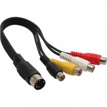 InLine câble dIN 5 broches dIN vers 4 x prise cinch 0,2 m 89230